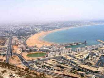 beach and sea of Agadir