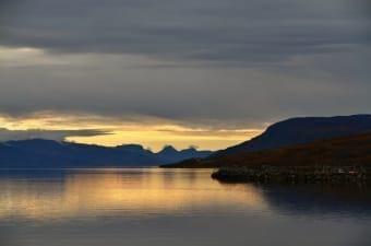 Ofotfjord al tramonto