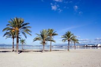 Beach of Palma de Mallorca